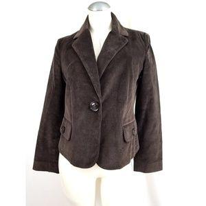 Talbots Size 10P  Brown Corduroy Blazer